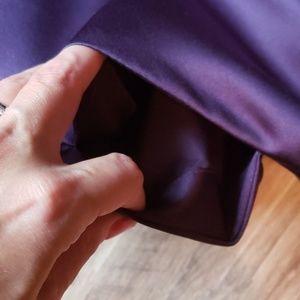 David's Bridal Dresses - Purple Satin Tea Length Dress